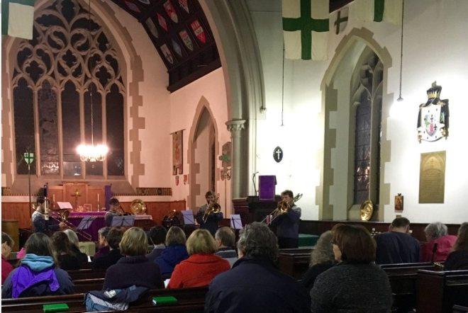 Aeris Brass Trombone Quartet Concert in St Vincent's on Saturday 12th December 2015