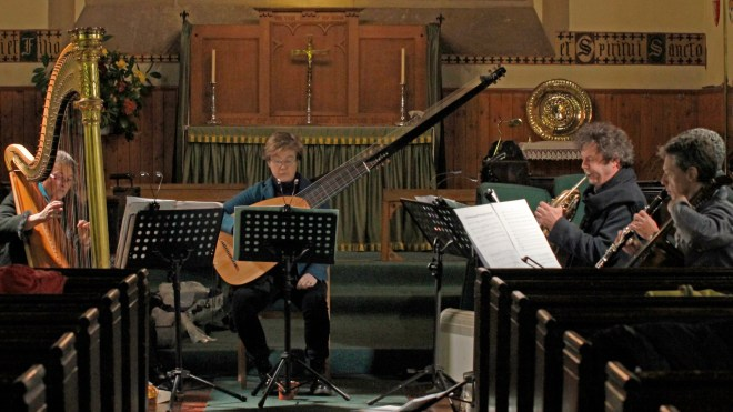 Hebrides Ensemble spent three days rehearsing in St Vincent's at the end of November 2015.