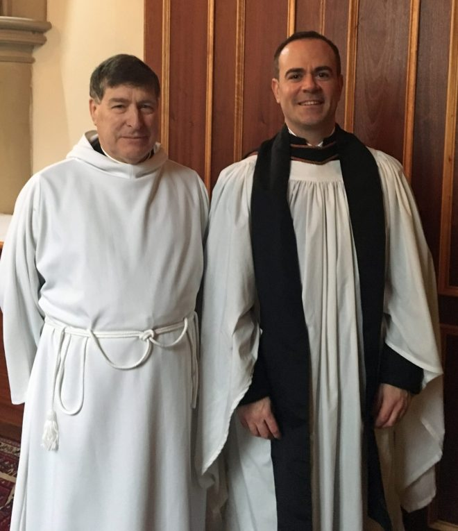 The Rector, Canon Allan Maclean, with the preacher and ordinand placement at St Vincent's on Sunday 7th February 2016