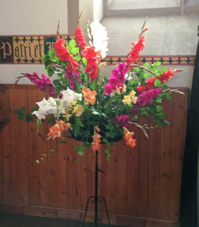 Altar flowers for Doors Open Day on 24th and 25th September 2016 when over 500 people visited St Vincent's.