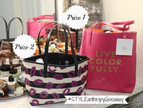 giveaway, contest, STYLEanthropy, win prizes, fashion, beauty, style, MK watch, Tory Burch earrings, Kate Spade tote, makeup products, beauty
