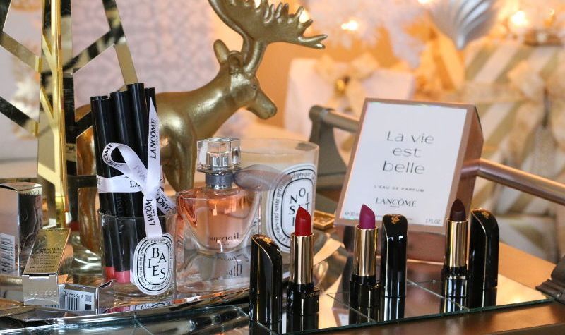 Lancome Holiday Makeup, beauty, fragrance, matte lip crayon, La vie est belle