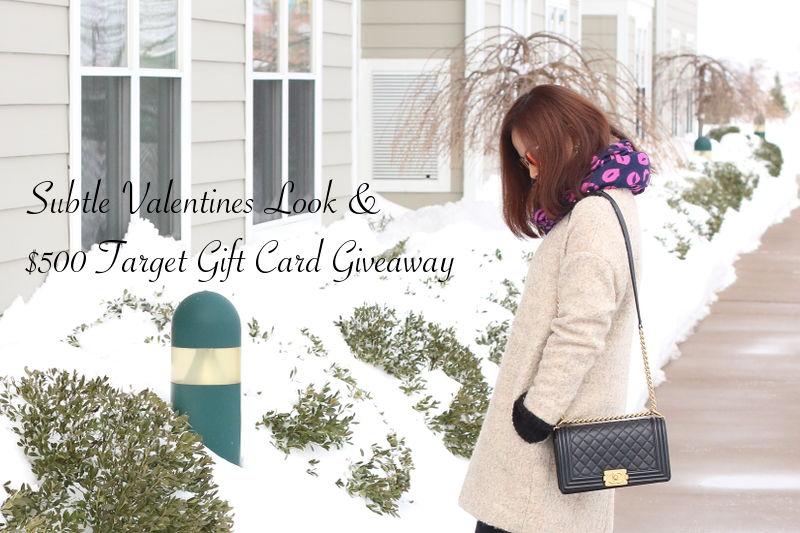 Subtle Valentines Look, Target GC Giveaway