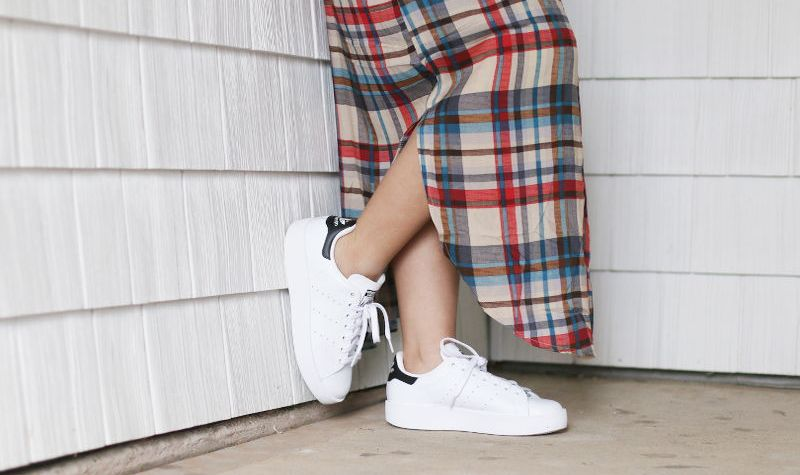 Stan Smith Double Sole Sneakers, Shein Plaid Shirt Dress