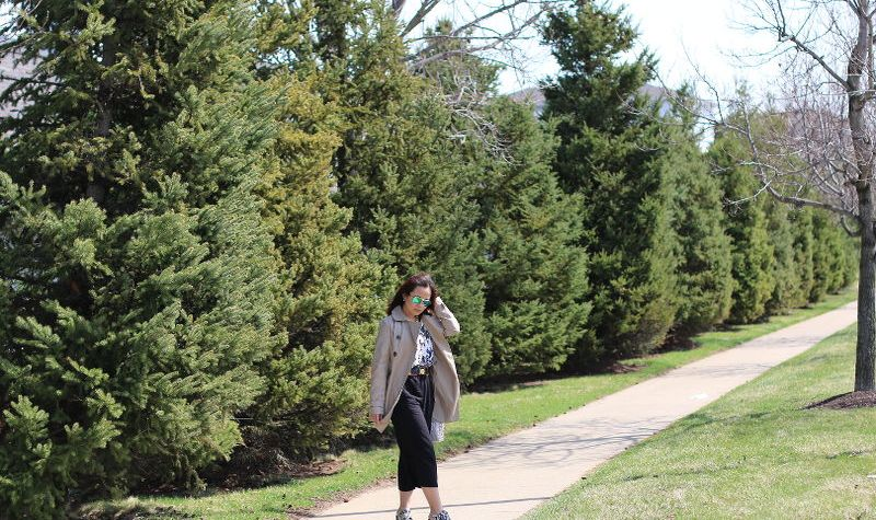 Easter Outfit, Trench Coat, Culottes