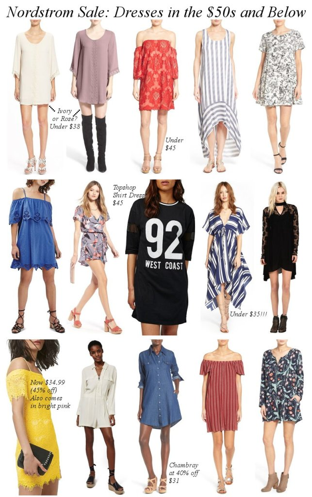 Nordstrom Sale, NSale, dresses, shopping, discount, markdowns, below $50
