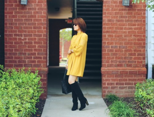 fall ready look, Versona dress, mustard yellow, pumpkin yellow outfit