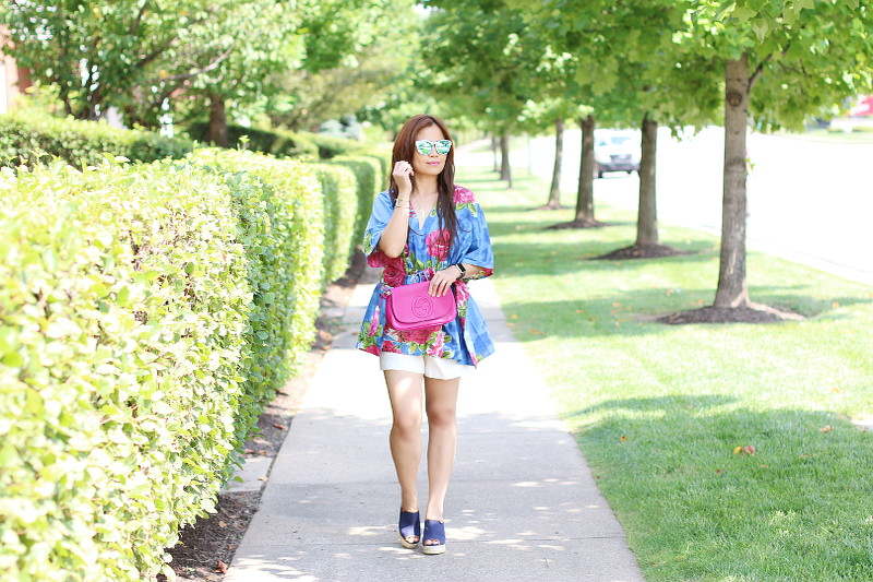 kaftan floral blouse