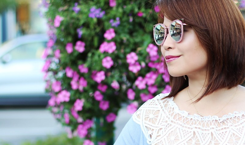 Rose Wholesale Pink Cat Eye Sunglasses, Lace off shoulder top, outfit, fashion, trends, style