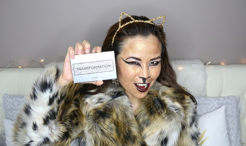 Halloween Leopard Look, Pur Cosmetics Transformation Palette, halloween makeup