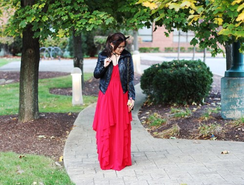 holiday dress, holiday look. chiffon, SheIn maxi