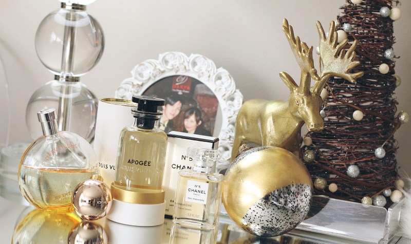 Holiday Gift Guide, Luxury Perfumes, Hermes, Chanel Eau Premiere, Louis Vuitton Apogee, fragrance, scents
