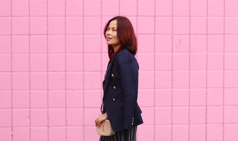 Banana Republic Blazer, Saint Laurent Bag, fashion, outfit