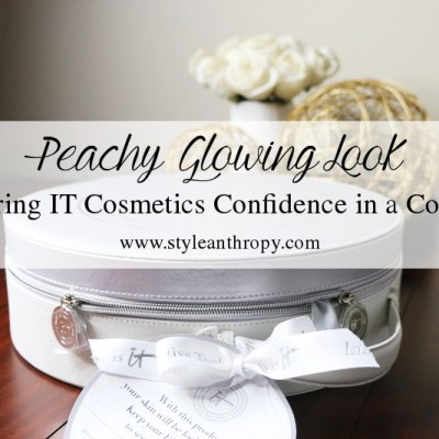IT Cosmetics Confidence in a Compact + Peachy Glowing Look