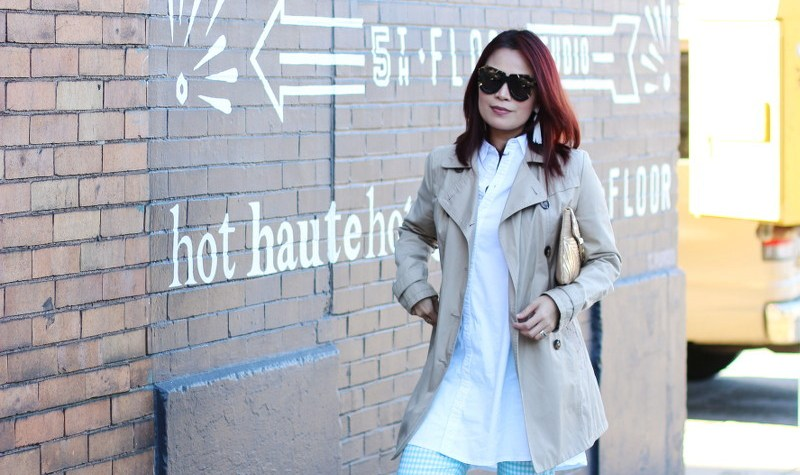 Trench Coat, White Button Down Shirt, outfit, fashion, style, spring look
