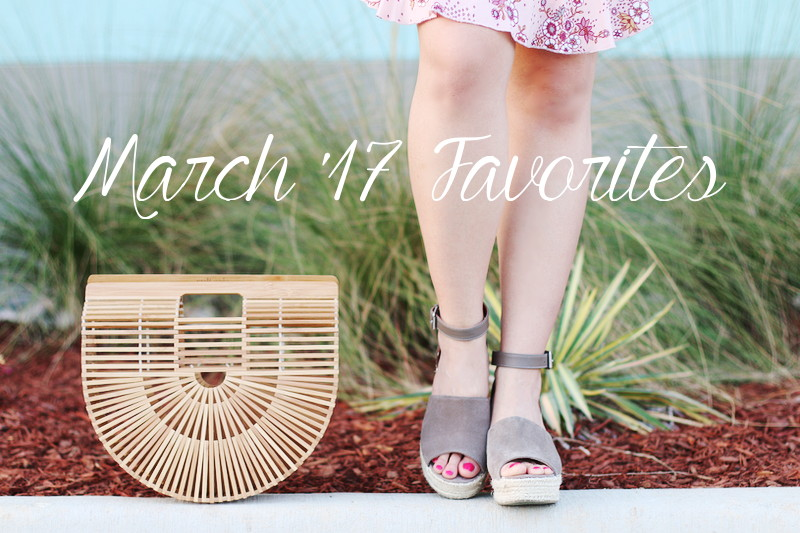 March 2017 Favorites, Cult Gaia ark bag, Steve Madden wedge sandals