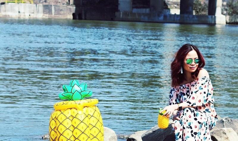 Pineapple Floating Beverage Cooler, Big Mouth Inc
