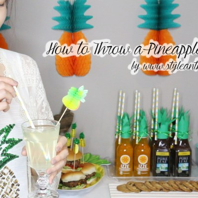 How to Throw a Pineapple Party + Pineapple Burger Recipe