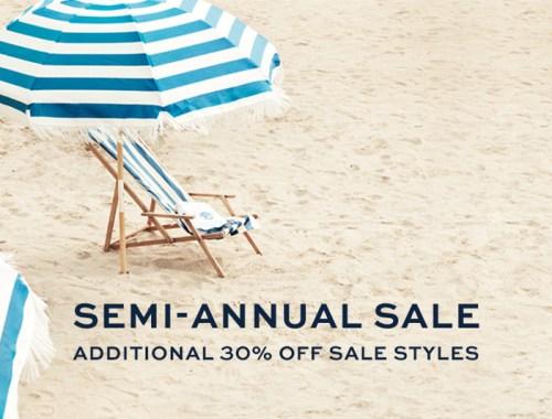 Tory Burch Semi annual sale, summer sale, beach