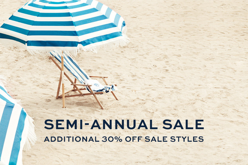 Tory Burch Semi annual sale, summer sale, beach