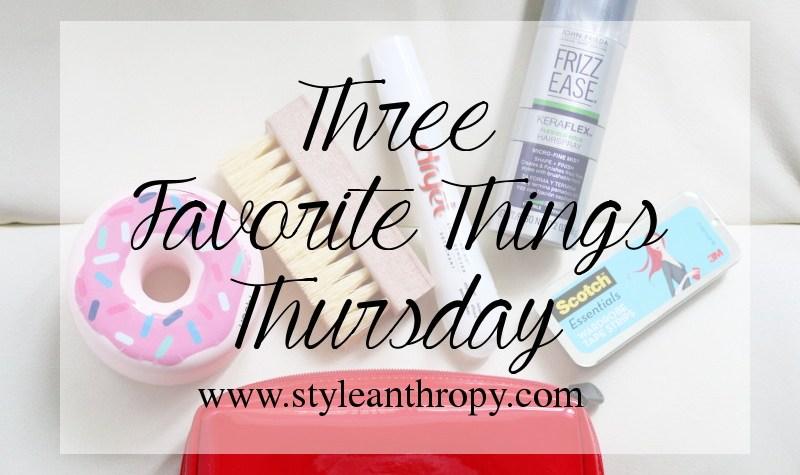 Three Favorite Things Thursday Fashion Emergency Kit