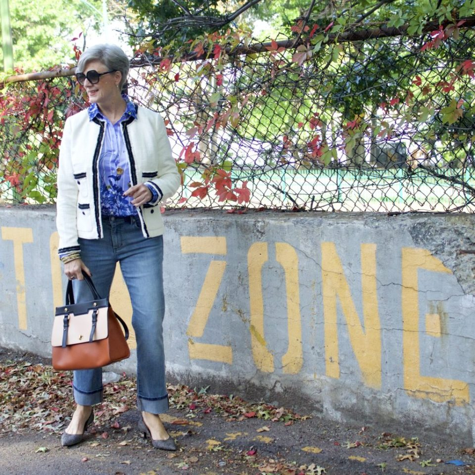 how to wear florals for fall