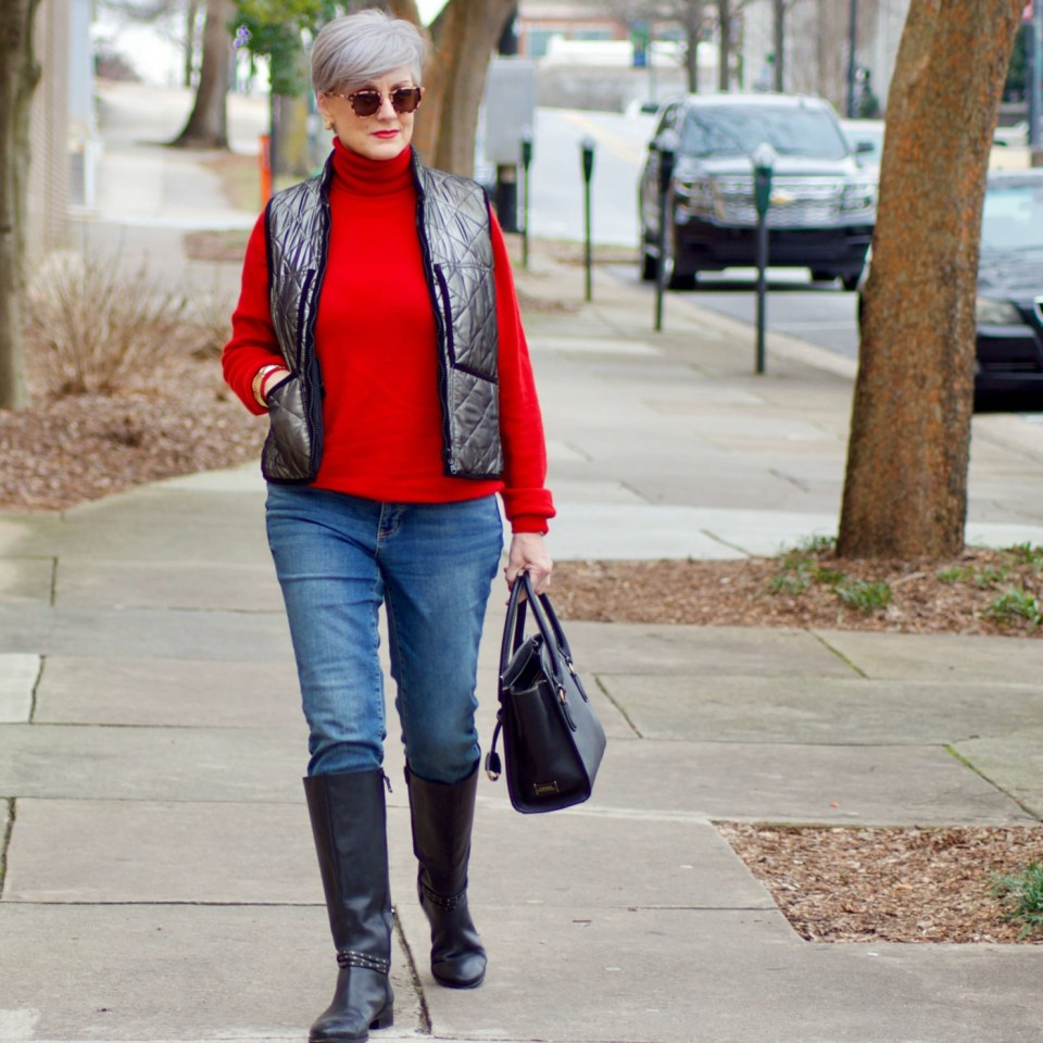 beth from Style at a Certain Age wears five classic winter essentials