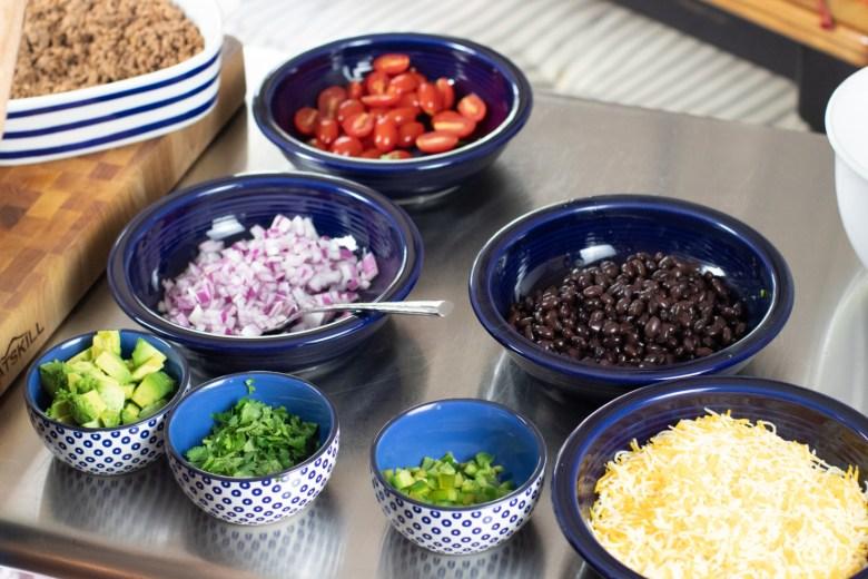 taco salad and margaritas