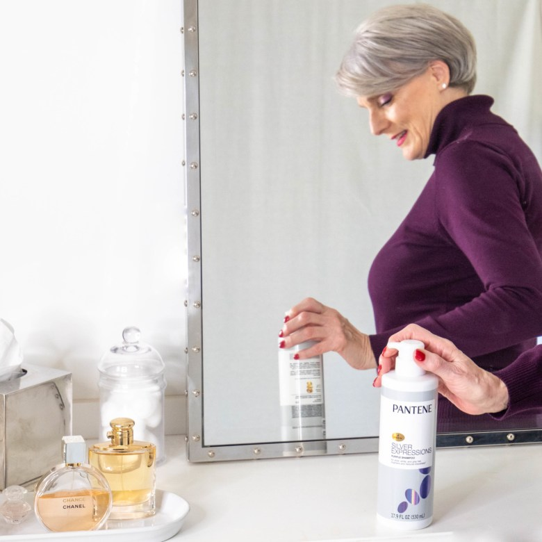silver hair with Pantene