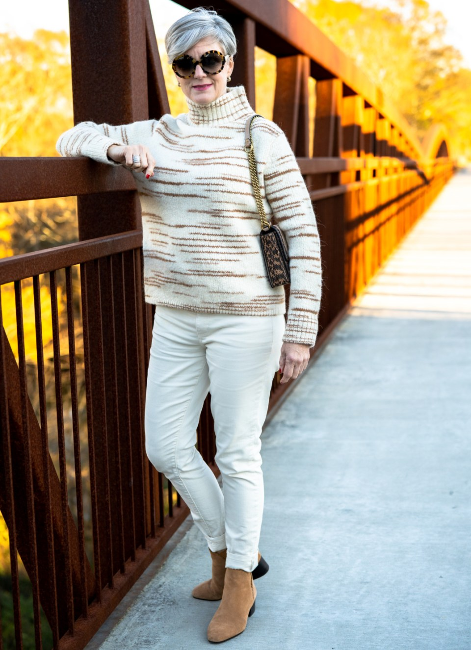 how to style neutrals for winter