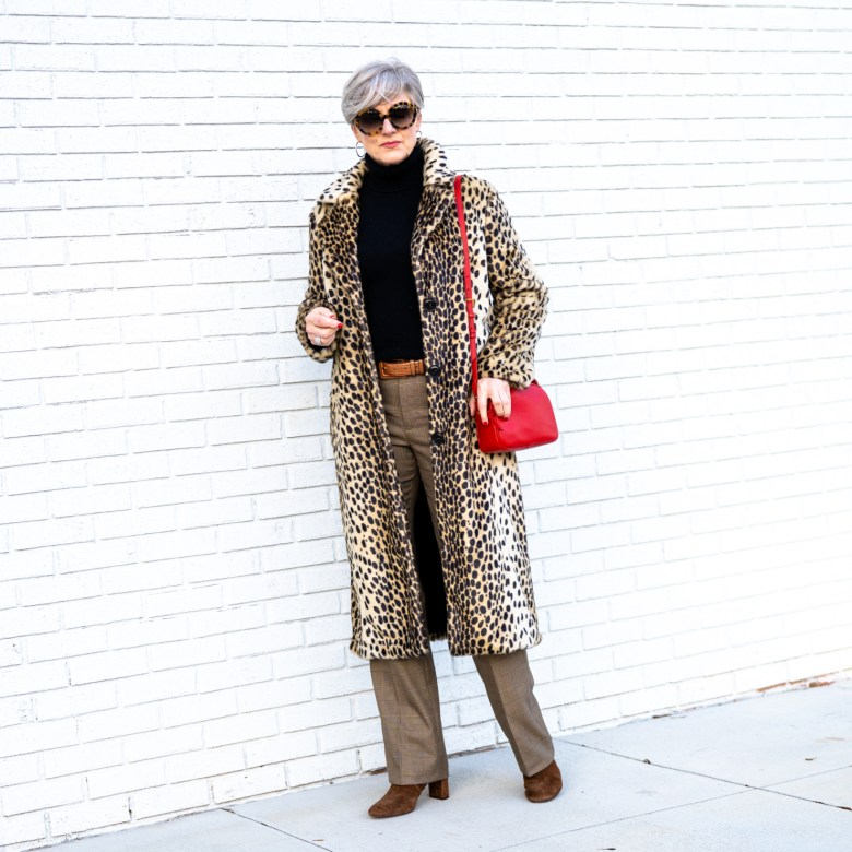 how to wear leopard with glen plaid
