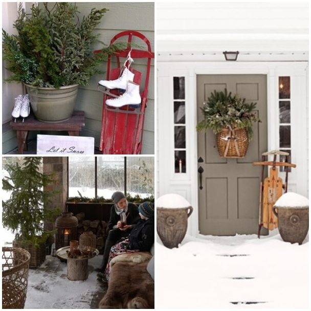 Front Porch Winter Large Winter Decor