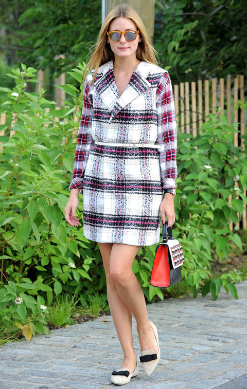 Olivia Palermo wearing Plaid