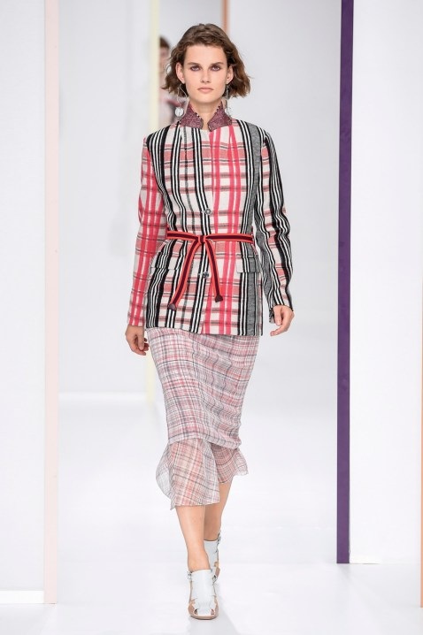 Plaid shirt and skirt by hermes