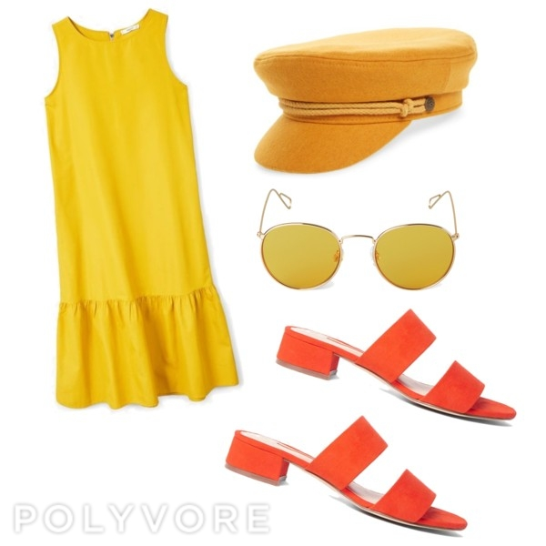 An all bold colour outfit