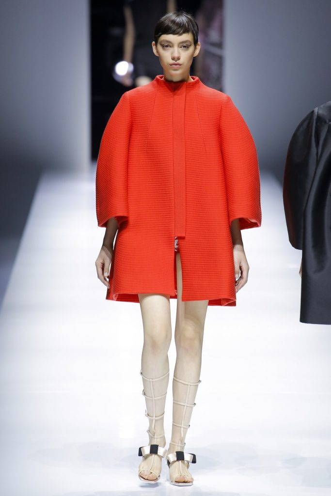 Bold colors on Lanvin coat