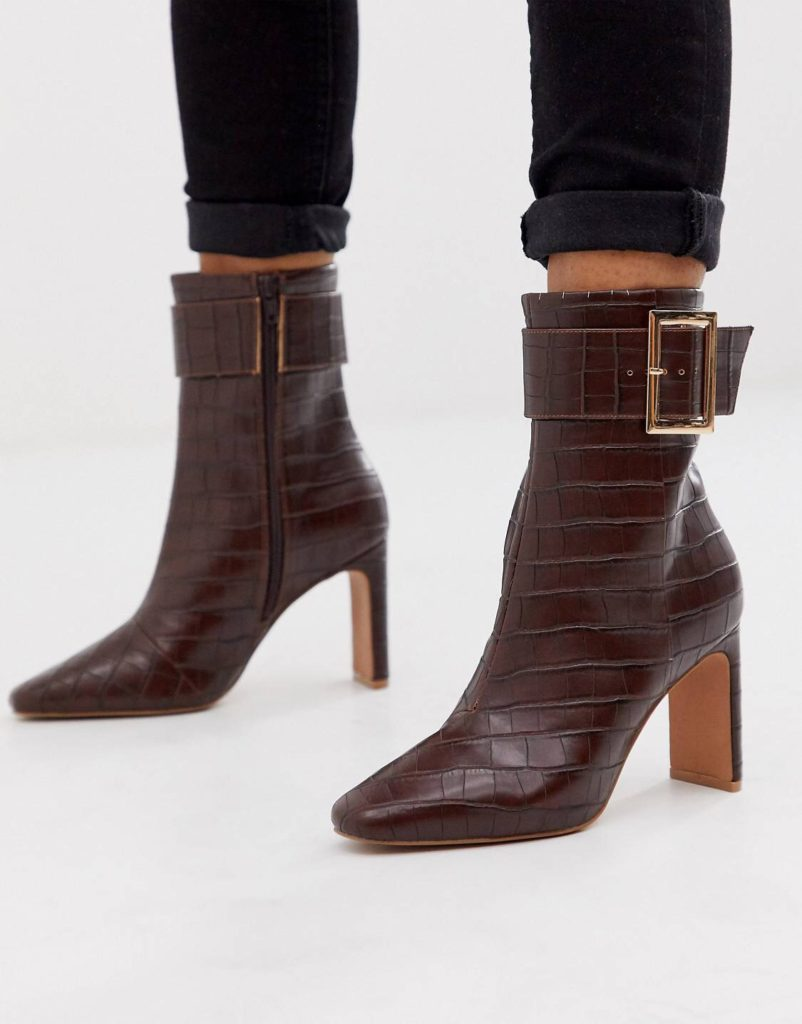 Window shopping ASOS boots with buckle detail