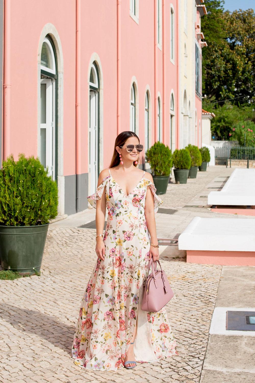 Yumi Kim Ruffle Floral Maxi Dress In Cascais Portugal