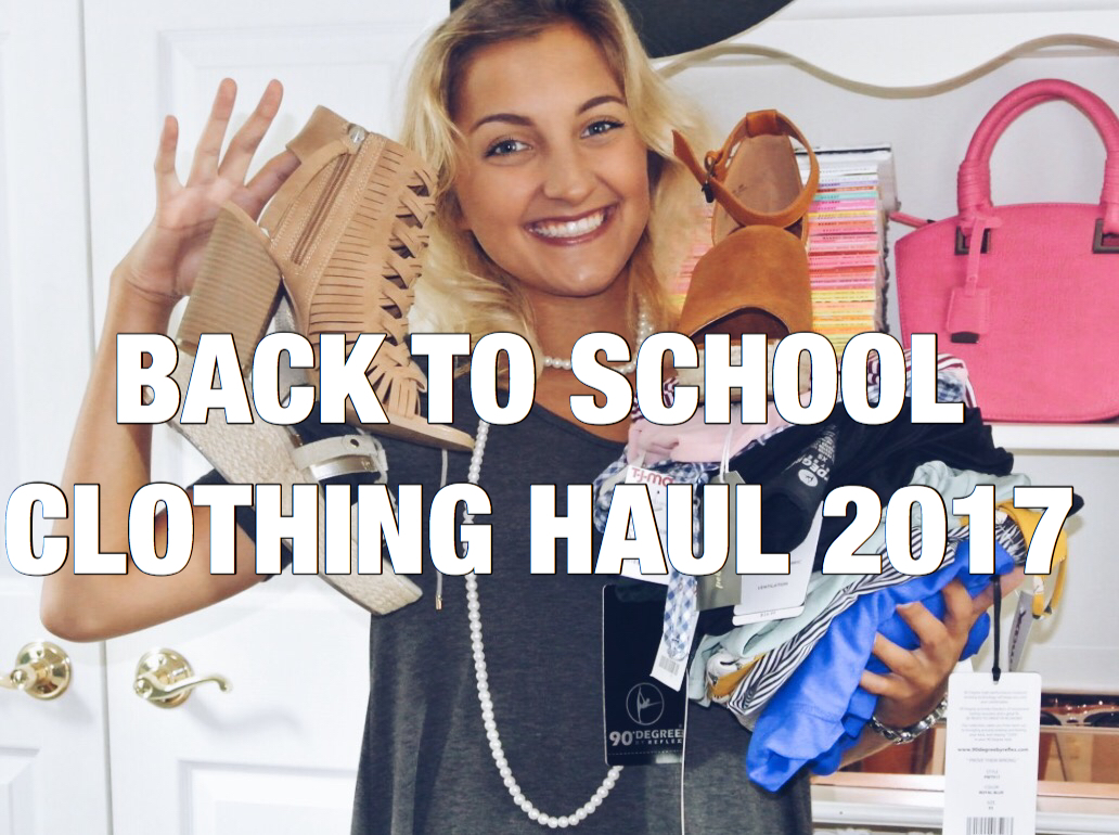 Today, I'm kicking off the week with my favorite blog post of the whole  year… my Back To School Clothing Haul!