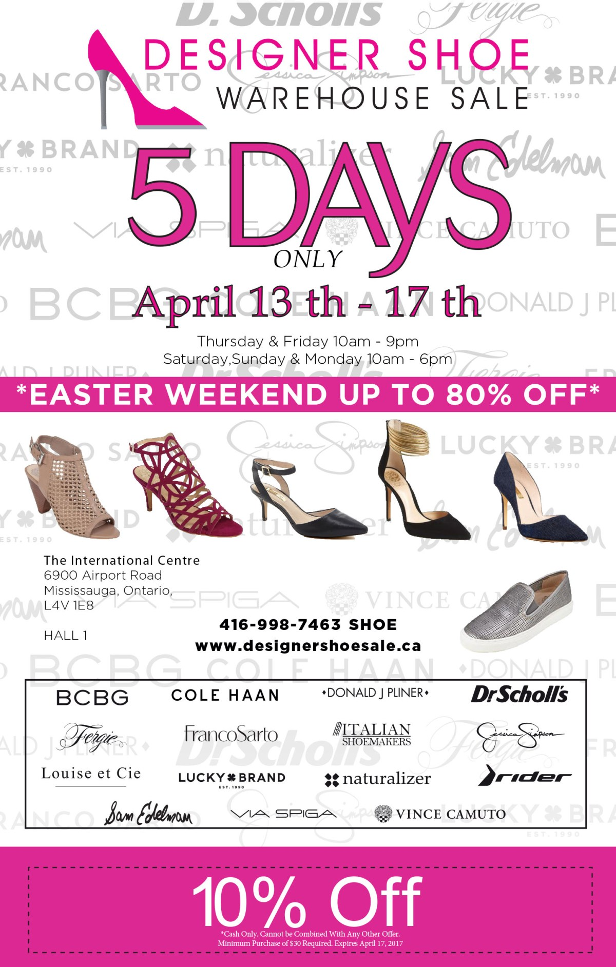 designer shoe warehouse - Bcbg Sample Sale