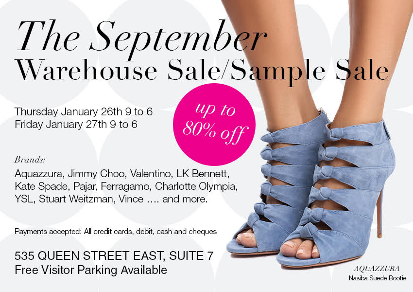 The September Warehouse Sale & Sample Sale | StyleDemocracy.com