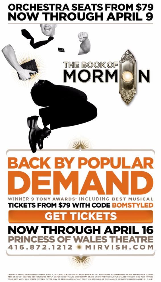 book of mormon toronto