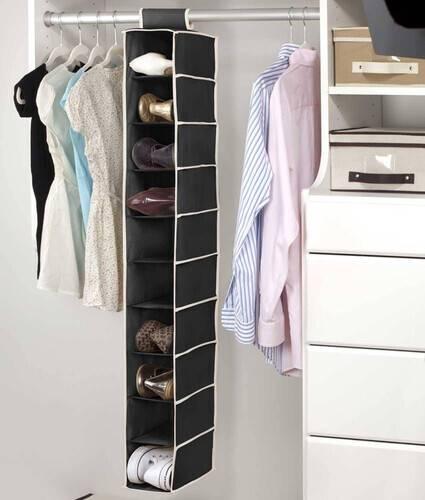 hanging cloth shoe rack storage space saving