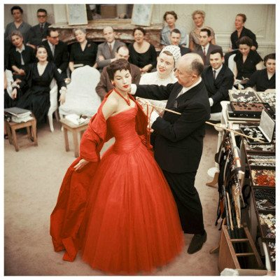 Mark Shaw Editioned Photo-Christian Dior in Paris Atelier, 1954