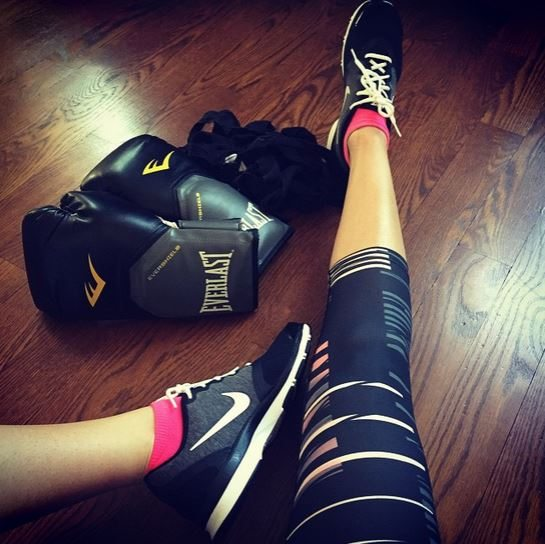 All warmed up and ready for my workout!
