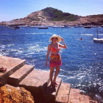 Begur, Spain: Never without my sun hat or swimsuit!