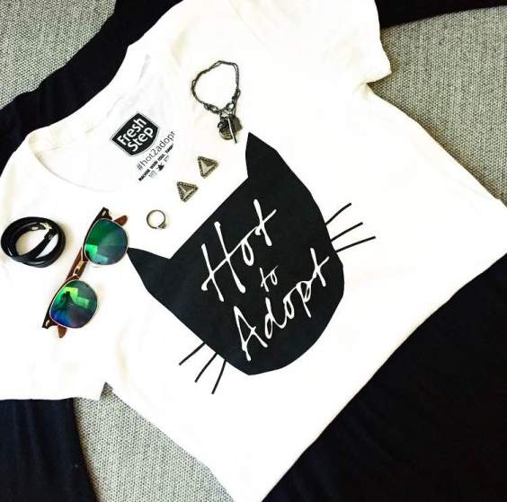 Style your Hot To Adopt tshirt and tag #hot2adopt t show your support.