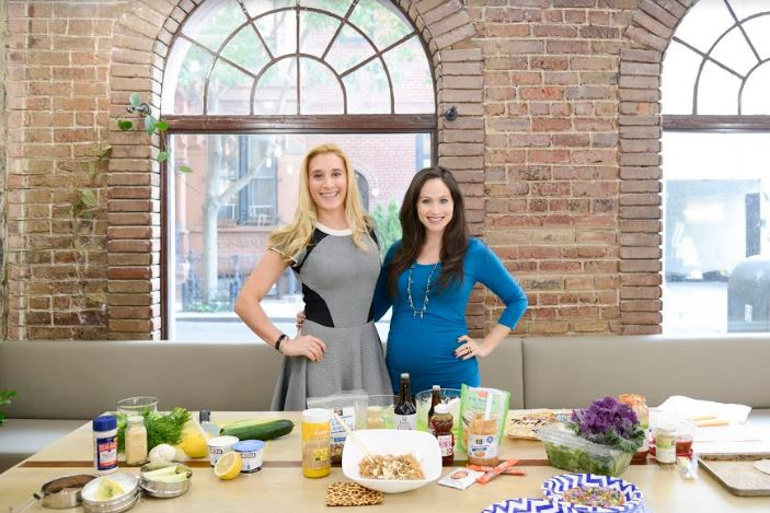 Marie Claire was on site whipping up healthy recipes.