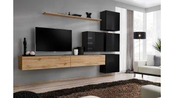 Stylefy Swotch IX Wohnwand Schwarz Matt Wotan Schwarz   Möbel online kaufen » je