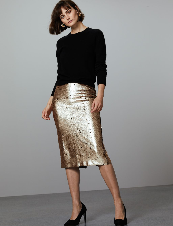 sequin skirt - M&S